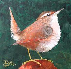 "Daily Paintworks - ""Wren"" - Original Fine Art for Sale - © Toni Goffe"