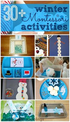 30 Montessori Winter Activities for Kids. Winter Activities For Kids, Winter Crafts For Kids, Winter Kids, Craft Activities, Christmas Activities, Toddler Activities, Winter Preschool Activities, January Preschool Themes, Toddler Crafts