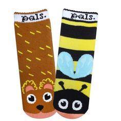 Bear & Bee Pals - Sweet as Honey Toddlers Rosh Hashanah Socks | ModernTribe