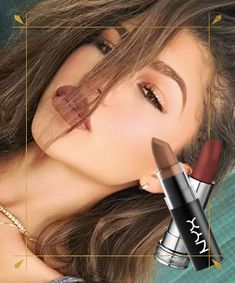 Zendaya flawlessly pulls off matte lipstick in brown. See how to wear brown lipstick. Try Nyx Matte Lipstick in Maison or Lancome Rouge in Love Lipcolor in Cocoa Couture. Brown Lipstick Shades, Brown Lipstick Makeup, Mat Lipstick, Mac Lipstick Swatches, Lipstick Colors, Lip Colors, Lipsticks, Mac Eyeshadow, Cool Makeup Looks