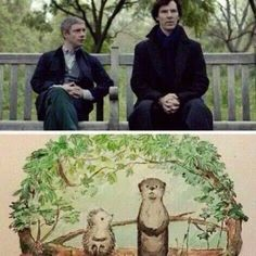 Sherlock: Can someone please make this into a kids book series? Sherlock Holmes, Sherlock John, Moriarty, Sherlock Otter, Funny Sherlock, Martin Freeman, Benedict Cumberbatch, Johnlock, Geeks