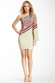 Analili One Shoulder Printed Dress