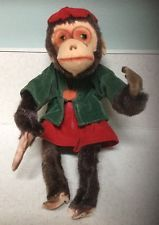 Rare-Vintage 1940's Mohair Toy Monkey with moving head from Japan