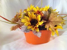 Fall floral arrangement  on Etsy, $25.00
