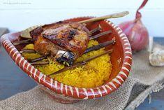 Cordeiro com arroz de forno à Marco de Canaveses