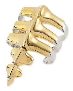 Vertebrae Two-Tone Cuff Bracelet by Noir at Neiman Marcus.