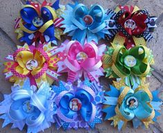 Disney Princess Hair Bow PICK TWO Snow White by Asil328 on Etsy
