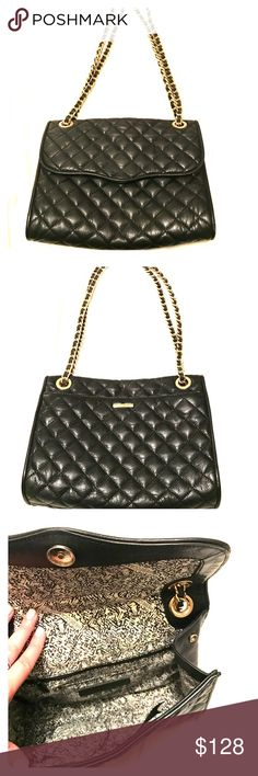 Rebecca Minkoff Quilted Affair Shoulder Bag With just enough space to stash your must-haves (lip gloss, cell phone, wallet, keys, and sunglasses), this timeless style makes a seamless transition from day to night. Rebecca Minkoff Bags Shoulder Bags
