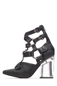 8919675c8ad Jeffrey Campbell Shoes RIALTO Heels in Black Silver Clear