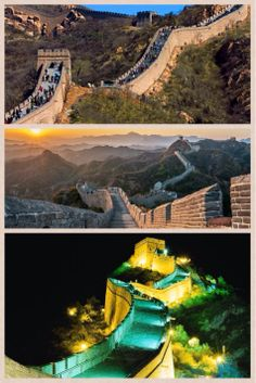 Visit The Great Wall of China, during the day, sunset or night... #sancruzotravel # greatwallofchina #travel #sunset
