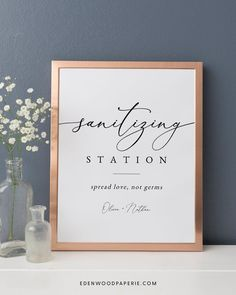 Printable Sanitizing Station Sign  Purchase, personalize, and print within minutes! Edit using the Templett app in your computer browser – no additional software needed! Please try demo and seek clarification before purchasing the template. FREE DEMO ━━━━━━ Fall Wedding Arches, Fall Wedding Flowers, Wedding Invitation Etiquette, Wedding Invitations, Wedding Stationery Inspiration, Advice For Bride, Fall Wedding Centerpieces, Minimalist Wedding, Hand Sanitizer