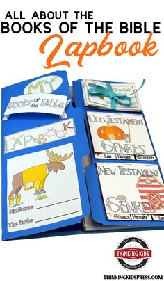 All About the Books of the Bible Lapbook  Teach your kids all about the books of the Bible with this fun lapbook. They'll learn the order, authors, genres, and themes of every book of the Bible! Bible Crafts For Kids, Bible Study For Kids, Bible Lessons For Kids, Bible Activities, Sabbath Activities, Character Activities, Art Therapy Activities, Christian Parenting, Teaching Kids