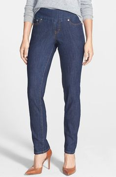 Jag Jeans 'Malia' Pull-On Stretch Slim Jeans (Dark Shadow) available at #Nordstrom