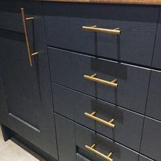 From Thefoundryman on Etsy: Luxury brass Kitchen hardware Kitchen Drawer Handles, Brass Kitchen, Kitchen Hardware, Brass Handles, Drawer Knobs, Kitchen Cupboards, Door Handles, Door Hooks, Round Bar