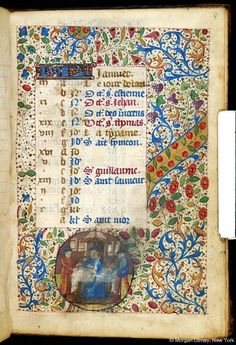 Book of hours, MS M.32 fol. 4r - Images from Medieval and Renaissance Manuscripts - The Morgan Library & Museum