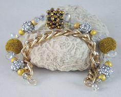 Gold+Chain+Bling+Ball+Bracelet+by+DesignsByJuneBug+on+Etsy,+$47.00