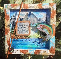 PaperOcotilloStudio: Spark of Creativity Saturday - Masculine Mixed Media & A Coupon! Mixed Media, Creative, Frame, Artist, Projects, Coupon, Painting, Design, Picture Frame