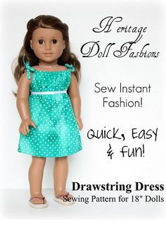 American Girl Doll Dress - would probably work for bitty baby too. @Cindy Vogel- maybe you could help E make this?
