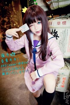Yato in Hiyori's body. I swear this is one of the best cosplays I've seen so far. It's good looking and in character #noragami