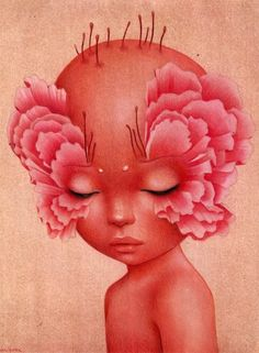 Paeonian Meditation by Raul Guerra by raul-guerra on DeviantArt Pretty Art, Cute Art, Kunstjournal Inspiration, Wow Art, Hippie Art, Psychedelic Art, Surreal Art, Aesthetic Art, Collage Art