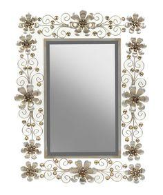 Love this Floral Mirror on #zulily! #zulilyfinds