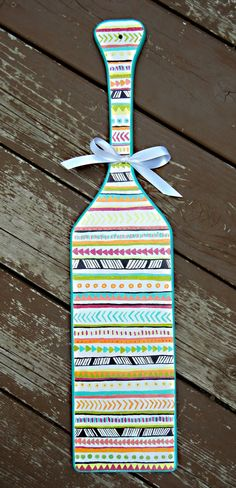 Tribal Print Sorority Paddle  Customizable and Hand by ARTbyKVB, $38.00