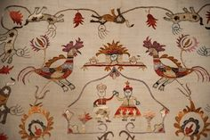 """Decorative motifs were arranged horizontally, vertically,diagonally or in a circle with patterns repeating or alternating .Certain motifs were more popular such as the """"tree of life"""" - a motif in Christian art referring to the Cross,and also,fruitfulness and nature's bounty.Other motifs were birds,flowers, double-headed eagles,churches,rosettes,anthemia - honeysuckle or palm leaves in radiating clusters, and geometric patterns."""