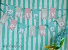 Spring Banner from www.thirtyhandmadedays.com