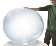 THIS IS AMAZING! A freaking bubble ball! It looks just like a bubble!