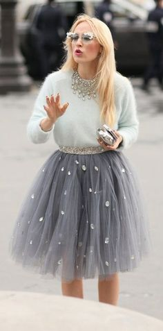 30 Feminine Outfits With Fairy Tulle Skirts