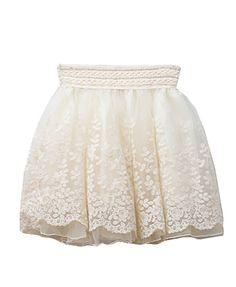 Retro Lolita Lace Skater Skirt
