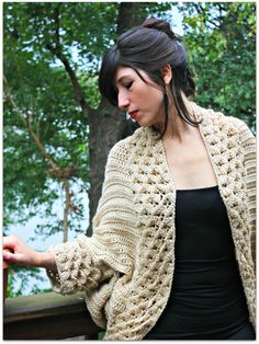 Ravelry: Crocodile Stitch Cardigan pattern by Bonita Patterns Stitch Crochet, Tunisian Crochet, Knit Crochet, Crochet Sweaters, Crochet Cardigan Pattern, Crochet Patterns, Baby Tulle Dress, Crochet Video, Black Crochet Dress