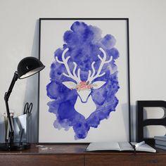 Este pôster combina a técnicas de aquarela feita a mão com design gráfico criando uma ilustração incrível pra decorar suas paredes.