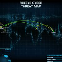 FireEye Threat Assessment map for FireEye Labs Cyber Threat, Cyber Attack, Internet, Trading Company, History, Digital, Labs, Assessment, Mixer
