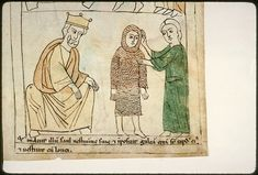 Navarre Picture Bible, Pamplona, Spain, 1197AD: David offering Saul to fight Goliath