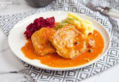 Bitki wieprzowe w rumianym sosie. Idealne na obiad. PRZEPIS Thai Red Curry, Homemade, Ethnic Recipes, Home Made, Hand Made