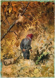 Kittelsen-082 - Nissen och snigeln 1887