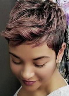 Short Sassy Hair, Short Straight Hair, Cute Hairstyles For Short Hair, Short Hair Cuts, Straight Hairstyles, Pixie Cuts, Short Pixie, Hot Hair Styles, Natural Hair Styles