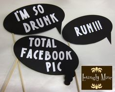 Photobooth Props  Ultimate Humor 7 Piece Set  by LovinglyMine, $25.00