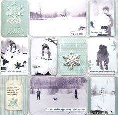 A beautiful memory notes project life layout by Anne Kristine using the Paris Flea Market and Pion Palette collections