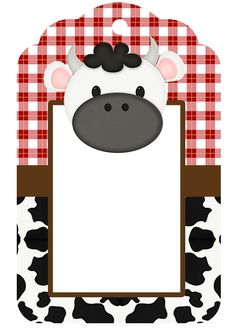 Cow Farm Party Thank You Tag Farm Animal Party, Farm Animal Birthday, Farm Birthday, Farm Party, Free Printable Gift Tags, Card Sentiments, Farm Theme, Pet Gifts, Tag Art