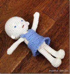 Amigurumi and Waldorf Inspired Baby Doll Crochet Pattern - Mama Smiles - Joyful Parenting