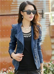 Shop Sophisticated Korean Autumn Clothing Slim Large Size PU Leather Jacket on sale at Tidestore with trendy design and good price. Come and find more fashion Jackets here. Pu Jacket, Jacket Style, Leather Jackets Online, Jackets For Women, Clothes For Women, Cheap Jackets, Ladies Jackets, Venus Swimwear, Buy Clothes Online