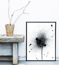Acuarela pintura impresión del arte abstracto arte por exileprints