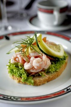 Norwegian shrimp sandwich....what I miss most when not in Norway. Mmmm! We typically use french bread, butter it, pile on the FRESH shrimp and squeeze some very mild mayo on top.