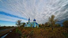 Niebo, Chmury, Droga, Kościół, Cerkiew