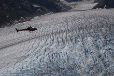 One of the most amazing experiences I ever had: glaciers from the helicopter in Alaska.