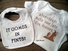 Baby Onesies & Bib Sets inspired by J.R.R. Tolkien by LoveMakingsAndDesign on Etsy