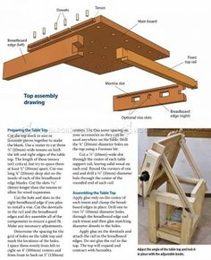 #1155 Tilting Carving Table Plans   Wood Carving Patterns And Techniques