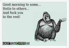 LOL. No really, good morning